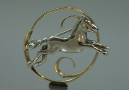 brooches-sterling-yellow gold and sterling