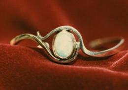 sterling and opal bracelet.