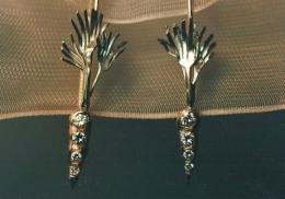 sterling, 14kt rose gold and diamond earrings