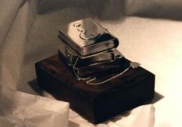 sterling silver desk ornament