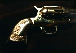 sterling silver handles for gun.