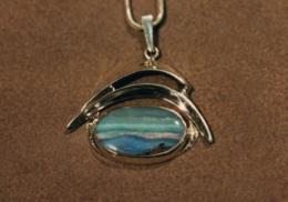 sterling silver pendant with Australian opal