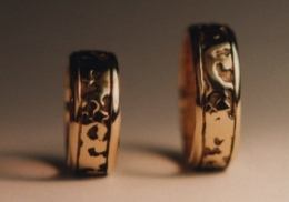 14kt. yellow gold wedding bands.