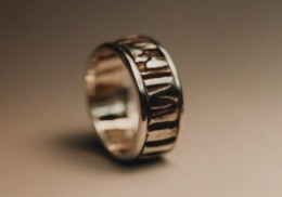 sterling silver wedding band.