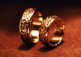 14kt. yellow gold wedding  ring set