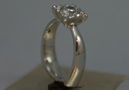 platinum engagement ring with diamond.